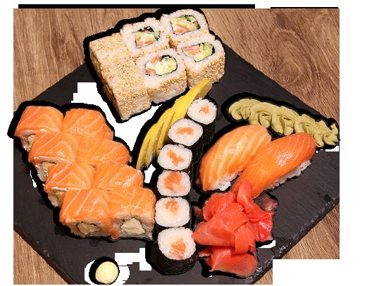 Заказать доставка суши сет с лососем Ирпень, Буча, Гостомель, Ворзель